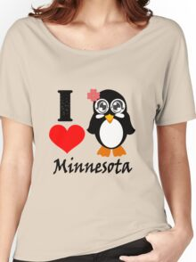 Minnesota penguin i love minnesota geek funny nerd Women's Relaxed Fit T-Shirt