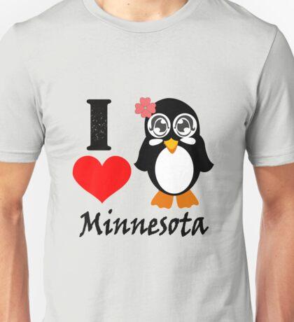Minnesota penguin i love minnesota geek funny nerd Unisex T-Shirt