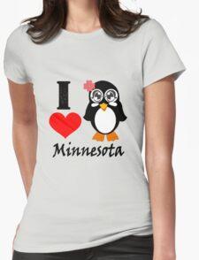 Minnesota penguin i love minnesota geek funny nerd Womens Fitted T-Shirt