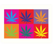 Marijuana Abstract Art Print