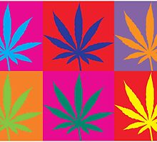 Marijuana Abstract by MarijuanaTshirt