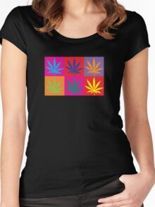 Marijuana Abstract Women's Fitted Scoop T-Shirt