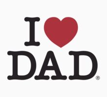 I Heart DAD One Piece - Short Sleeve