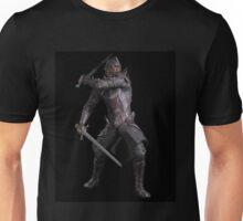 Dark Fantasy Knight with Two Swords Unisex T-Shirt