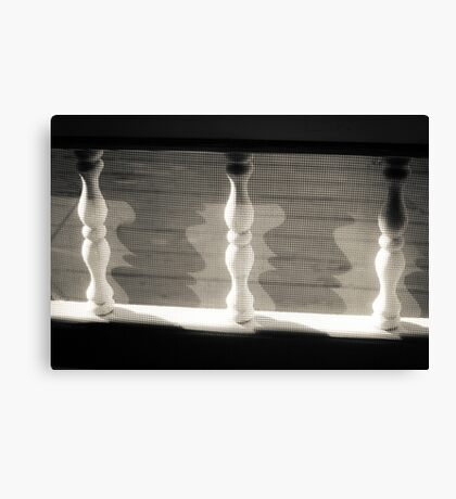Spindles,Screen and Shadows Canvas Print