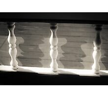 Spindles,Screen and Shadows Photographic Print