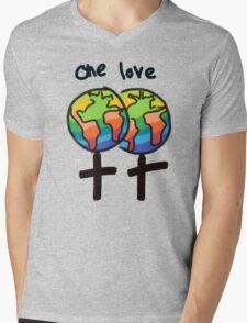 One Love Female Mens V-Neck T-Shirt