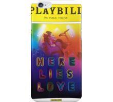 Playbill- Here Lies Love Off Broadway iPhone Case/Skin
