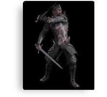 Dark Fantasy Knight with Two Swords Canvas Print
