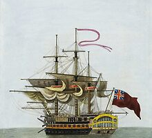 Vintage Galleon Ship Painting by Vintage Designs