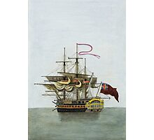 Vintage Galleon Ship Painting Photographic Print