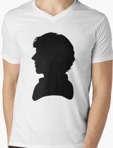 Sherlock Silhouette Mens V-Neck T-Shirt
