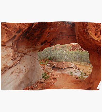 Red Rock Textures Poster