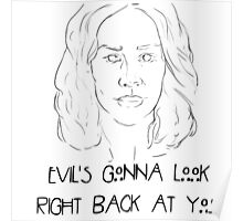 """Lana Winters """"Evil's gonna look right back at you"""" Poster"""