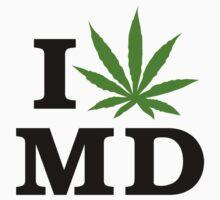 I Love Maryland Marijuana Cannabis Weed by MarijuanaTshirt