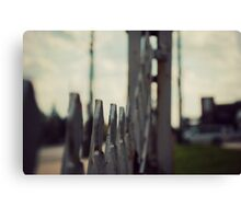 vintage motel photography, The Willows Motel, abandoned photography Canvas Print