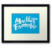 Maillot Froome : Sky Blue Framed Print
