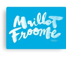 Maillot Froome : Sky Blue Canvas Print