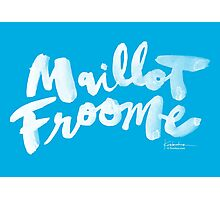 Maillot Froome : Sky Blue Photographic Print