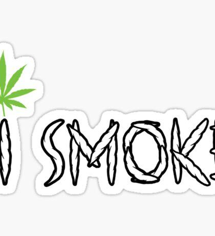 I Smoke Marijuana Sticker
