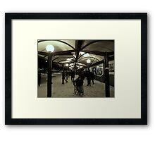 Traffic Terminal in Suburbia Framed Print