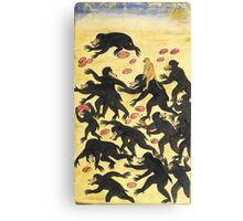 The monkeys outwitting the bears Vintage Fable illustration Canvas Print