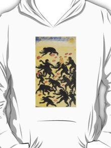 The monkeys outwitting the bears Vintage Fable illustration T-Shirt