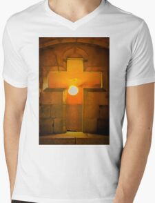 Golden age Sunset  Mens V-Neck T-Shirt