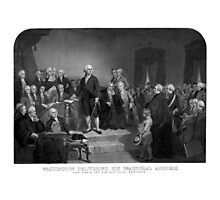 Washington Delivering His Inaugural Address Photographic Print