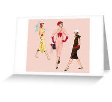 1950's Girls Greeting Card