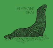 Elephant Seal Sketch Kids Clothes