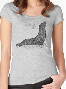 Elephant Seal Sketch Women's Fitted Scoop T-Shirt
