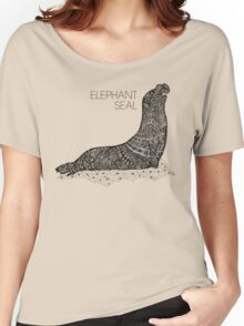 Elephant Seal Sketch Women's Relaxed Fit T-Shirt