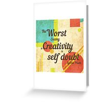Inspirational Quote Sylvia Plath Greeting Card