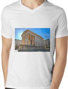 Maison Carree Nimes Mens V-Neck T-Shirt