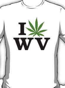 I Love West Virginia Marijuana Cannabis Weed T-Shirt