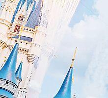 Cinderella Castle with Fireworks by mickeyspremium