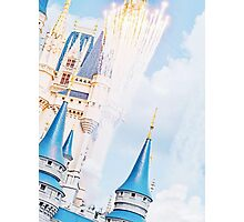 Cinderella Castle with Fireworks Photographic Print