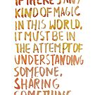 """Before Sunrise: """"Magic"""" by dictionaried"""