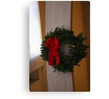 A Christmas Wreath Canvas Print