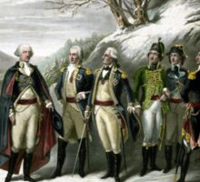 Washington and His Generals Sticker