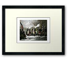 Washington and His Generals Framed Print