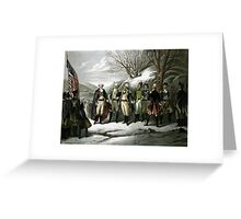 Washington and His Generals Greeting Card