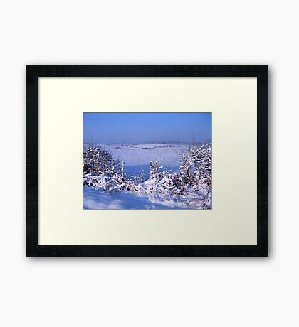 We're getting a White Christmas for sure Framed Print