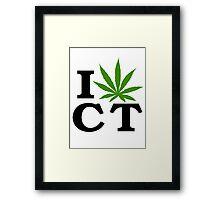 I Love Connecticut Marijuana Cannabis Weed Framed Print