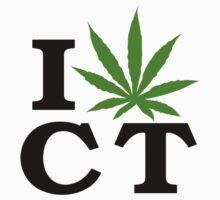 I Love Connecticut Marijuana Cannabis Weed by MarijuanaTshirt