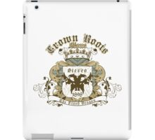 Crown Roots Stone iPad Case/Skin