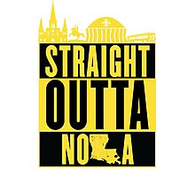 Straight Outta NOLA (Black and Gold) Photographic Print