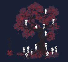 Forest Spirits sumi-e  One Piece - Short Sleeve