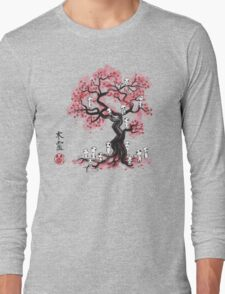 Forest Spirits sumi-e  Long Sleeve T-Shirt